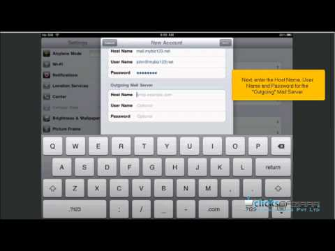 How to setup an IMAP email account on your iPad