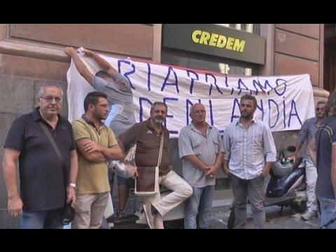 Napoli - Vertenza Edenlandia, rinviato cda. Protesta dei sindacati (08.09.14)