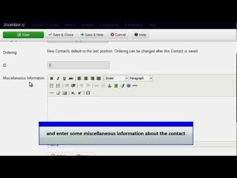 Joomla 3.0 - Add a Contact Form