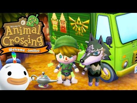 Animal Crossing: New Leaf - Welcome amiibo Update! - Wolf Link RV Zelda - 3DS Gameplay Walkthrough