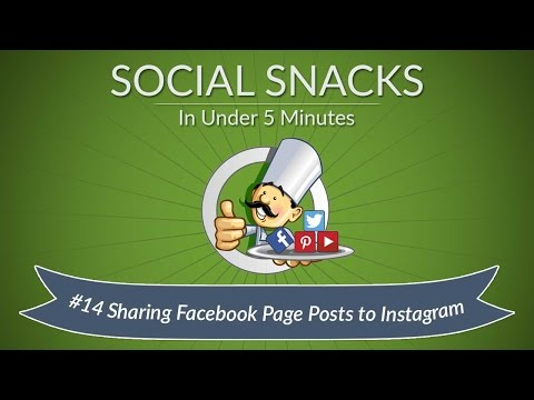 How to Share Facebook Page Posts to Instagram