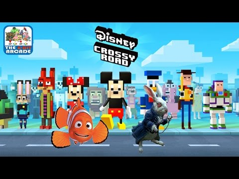Disney Crossy Road - Finding Marlin And White Rabbit From Alice (iOS/iPad Gameplay)