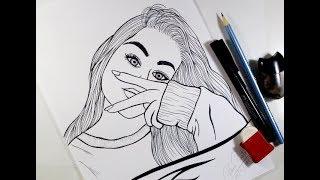 Como Desenhar Garota Tumblr Estilosa - Passo A Passo #462