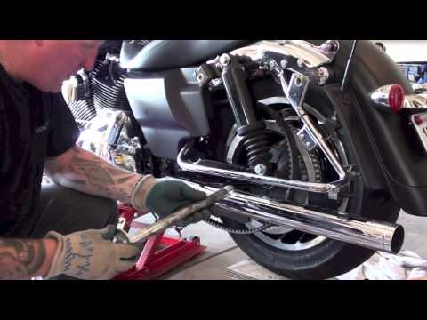 How to remove install rear wheel tire of Harley Davidson Motorcycle; Law Abiding Biker Podcast