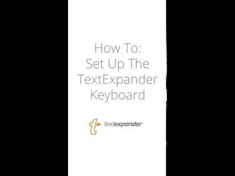 Set Up The TextExpander Keyboard on iPhone and iPad