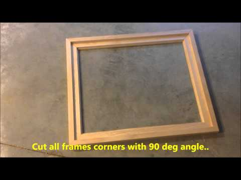 DIY Creating Your Own Floating Frame For Canvas