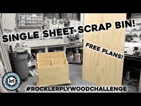 Scrap Cart From a Single Plywood Sheet #onesheetscrapcart