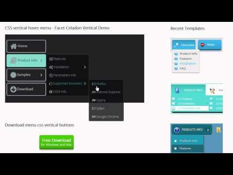 Menu CSS Vertical - create a vertical navigation in a few clicks!