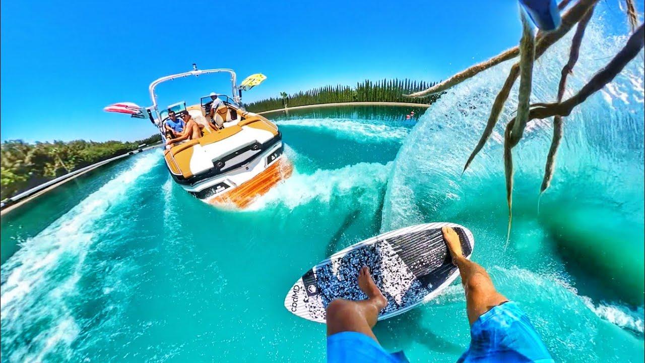 Epic Wakesurfing Stunts on a Private Lake Austin Keen