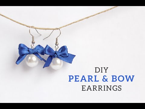 DIY Pearl & Bow Earrings