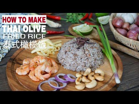Thai Olive Fried Rice (Khao Phad Nahm Liap Dum)