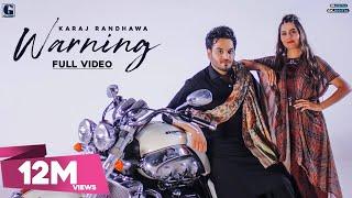 Warning : Karaj Randhawa & Gurlez Akhtar (Official Video) Punjabi Songs | GK DIGITAL | Geet MP3
