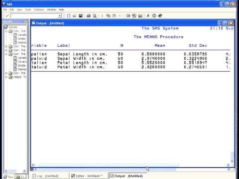PROC MEANS - SAS tutorial ( version 1)