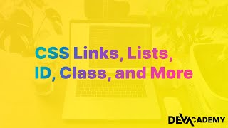 Learn HTML \u0026 CSS - CSS Links, Lists, ID's, Classes, and Pseudo Elements