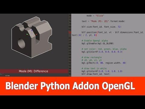 Blender Python Addon Tutorial : OpenGL