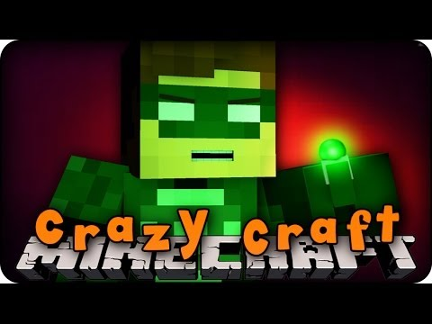 Minecraft Mods - CRAZY CRAFT 2.0 - Ep # 40 'GREEN LANTERN LOGO!!' ( SuperHero Mod)