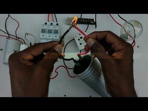 how to check capacitor in simple and easy no meter no test lamp - in tamil & english