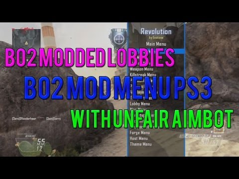 Black Ops 2 Mod Menu With Unfair Aimbot! (BO2 Modded Lobby PS3)