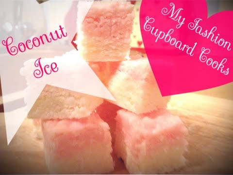 Coconut Ice | NO BAKE recipe | Little cubes of coconut heaven!