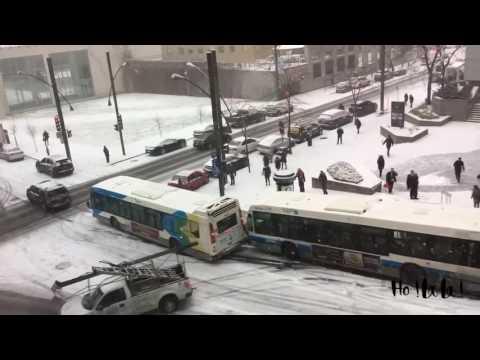Neige à Montréal Circulation compliquée le 5 décembre 2016