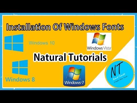 Installation Of Fonts In Windows 10 |windows 8 |Windows Vista | Windows 7