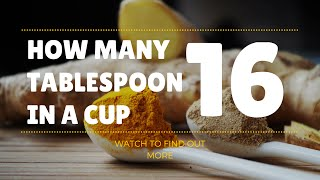 How Many Tablespoons In A Cup Easy Measurements