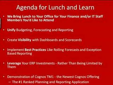 Cognos OnSite Lunch and Learn