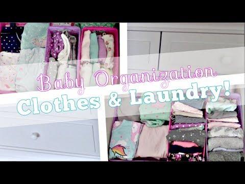 ORGANIZING BABY CLOTHES | SPACE SAVING HACKS