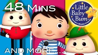 Humpty Dumpty   Part 2   Plus Lots More Nursery Rhymes   48 Mins Compilation by LittleBabyBum!