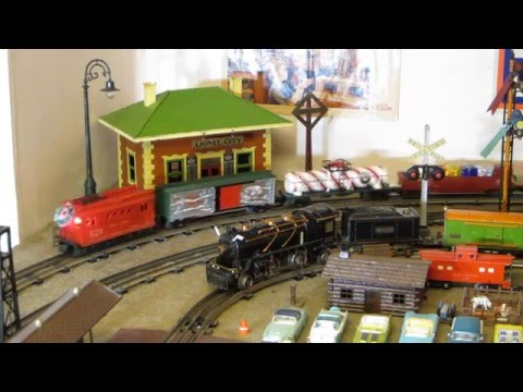 Mix of Postwar, Standard Gauge, 0 Gauge Prewar, and Modern Lionel 2015