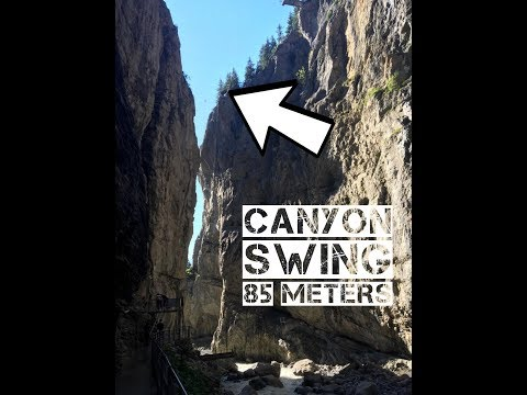 Canyon swing 85 meters free fall
