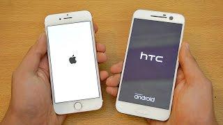 iPhone 7 vs HTC 10 - Speed Test! (4K)