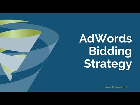 AdWords Bidding Strategy