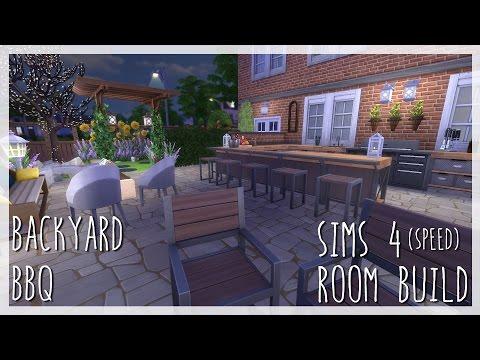 BACKYARD BBQ | Sims 4 Room Build