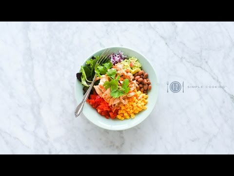 Chicken Burrito Bowl | 1-2 Simple Cooking