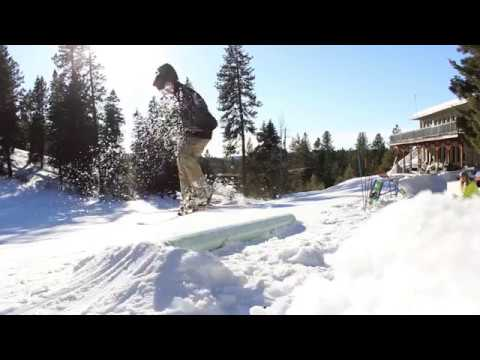 Home made ski and snowboard rail