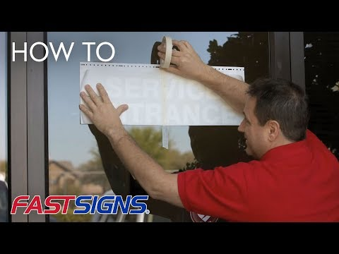 How To Apply Vinyl Lettering from FASTSIGNS®