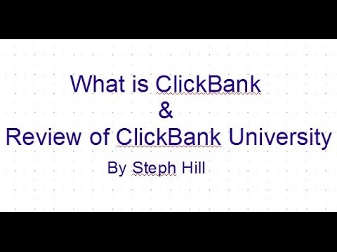 What is ClickBank & Review of ClickBank University