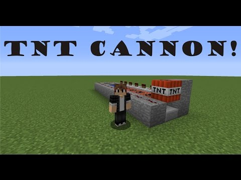 How to make a TNT Cannon in Minecraft 1.8!