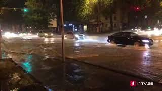 ძლიერი წვიმა თბილისში