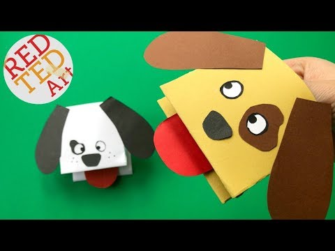 Easy Dog Hand Puppet DIY - Paper Hand Puppet Craft - Easy Dog DIY