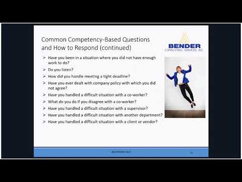 Practicing Competency Based Interviewing Strategies