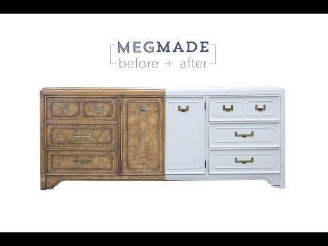 MegMade Before + After - Transformed Campaign Buffet Dresser