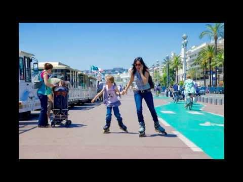 Famous Promenade des Anglais city of Nice | Very beautiful beaches in Southern  France