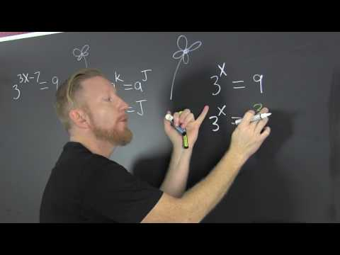 Exponential equations first examples