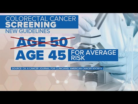 Colorectal cancer screenings should start at age 45, new guidelines say