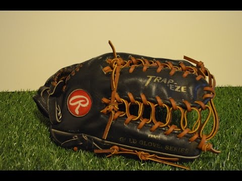 Rawlings TB24 Baseball Glove Relace - Before and After Glove Repair