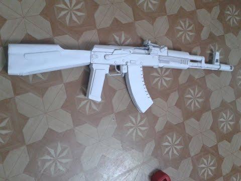 How to make a paper gun that shoots PAPER AK 47 (TUTORIAL)