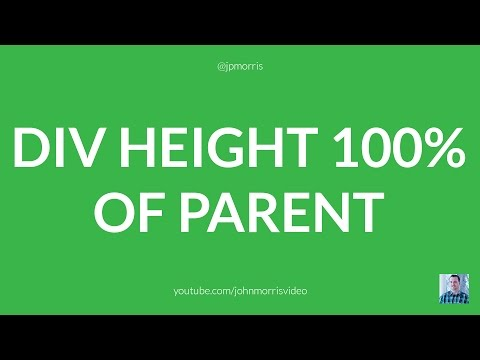 Set DIV to 100% Height of Its Parent Using jQuery