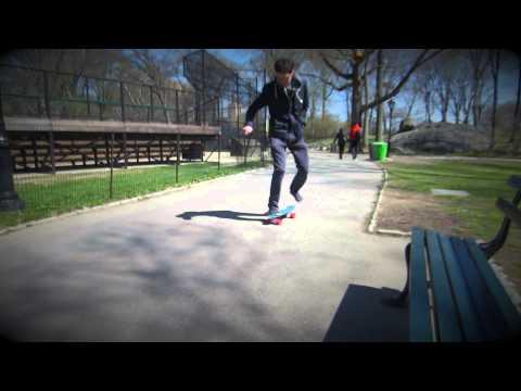 penny boarding in central park, new york